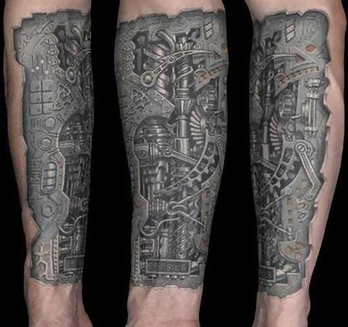 生化机械人物纹身分享展示
