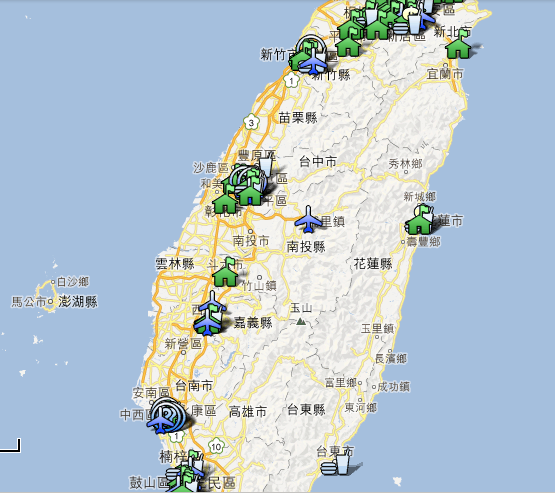 TABLE GAME MAP TAIWAN